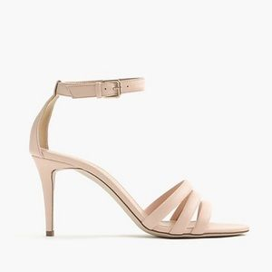 J. Crew Nude Pink Strappy Leather Heels 10